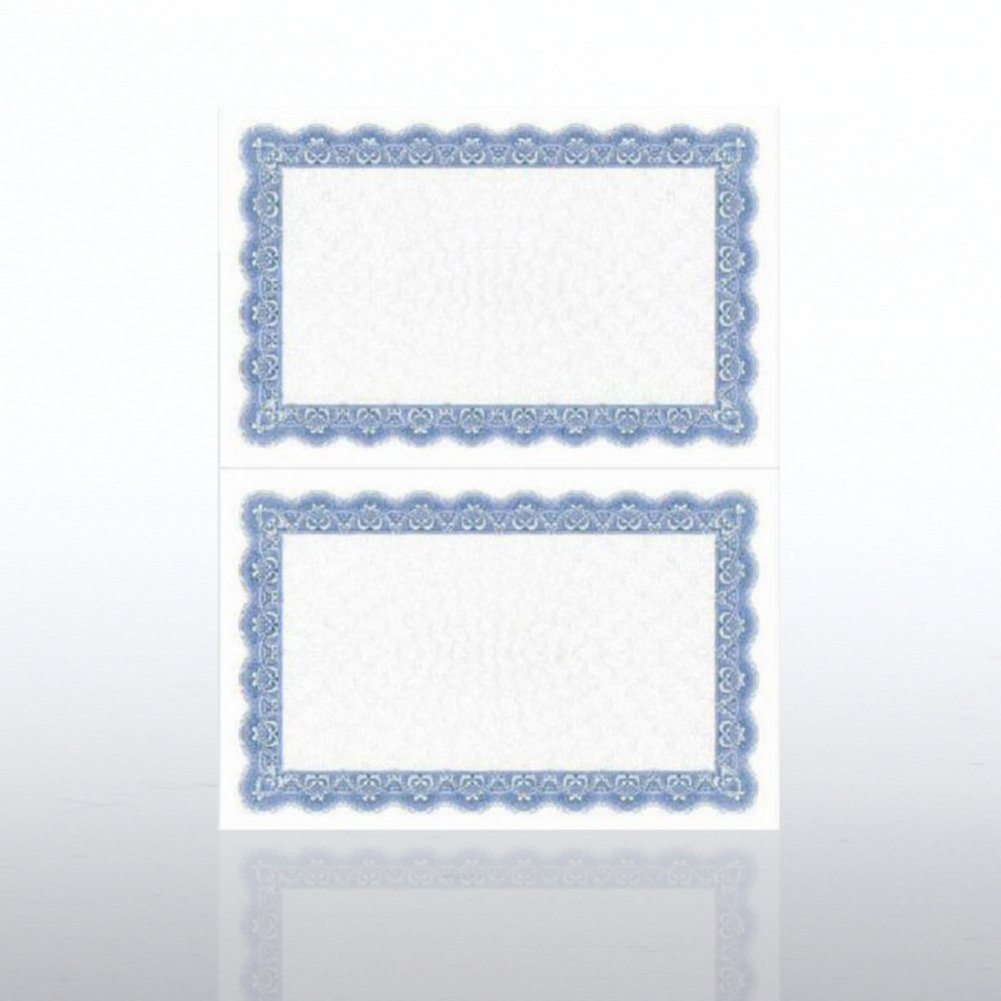 Certificate Paper - Official - Half-Size - Royal Blue