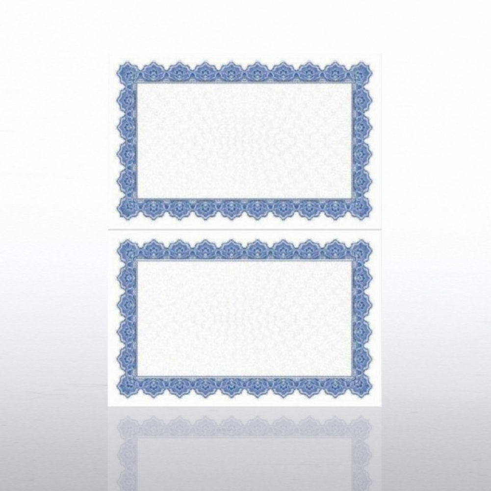 View larger image of Certificate Paper - Scallop - Half-Size - Royal Blue