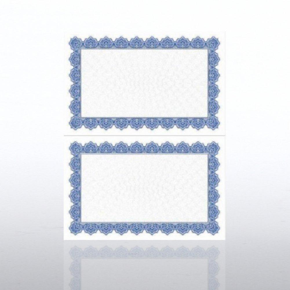 Certificate Paper - Scallop - Half-Size - Royal Blue