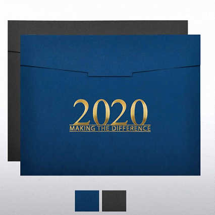Foil-Stamped Certificate Folder - MAD - 2020