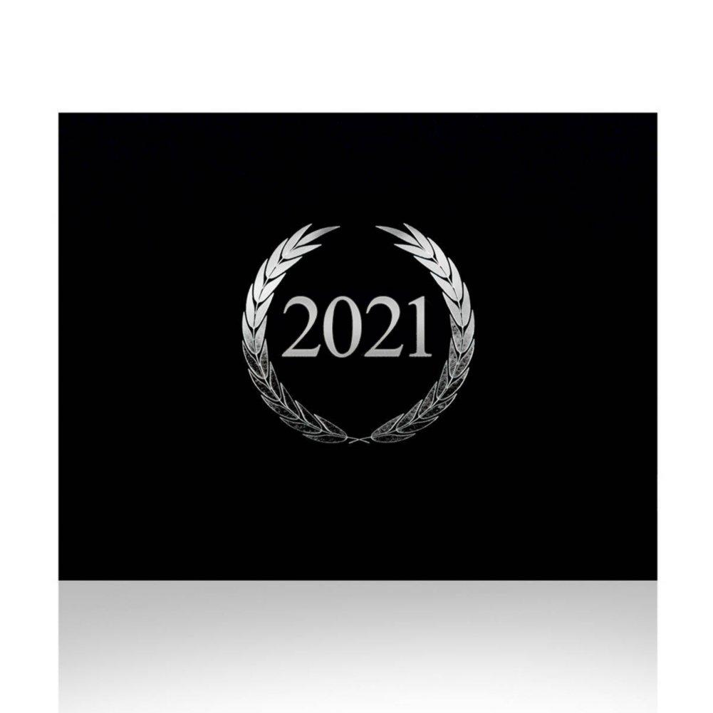 View larger image of Foil-Stamped Certificate Folder - Laurels - 2021