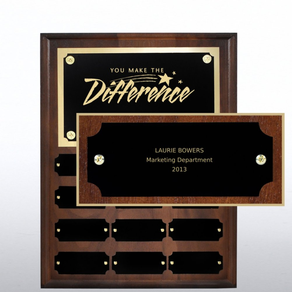 View larger image of Perpetual Plaque - Walnut - Personalized Nameplate