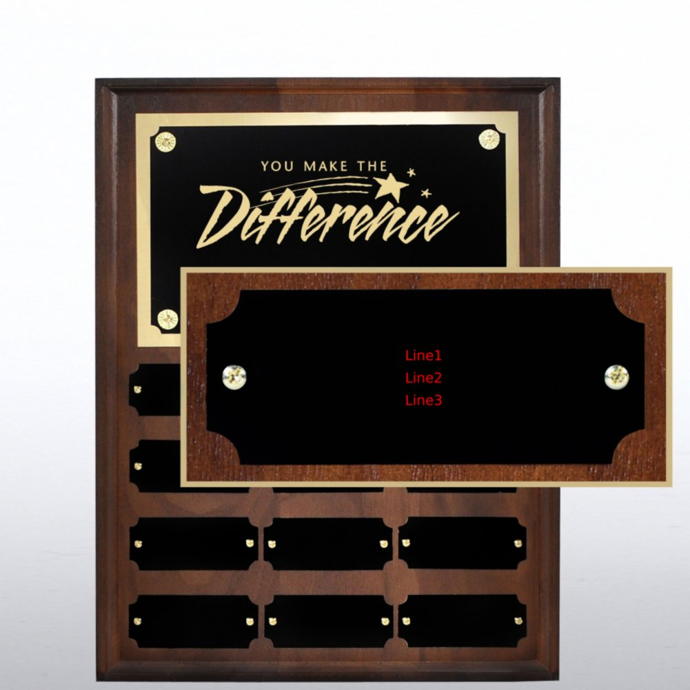 Perpetual Plaque - Walnut - Personalized Nameplate