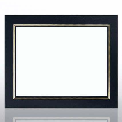 Leatherette Frame - Black - Foil Border