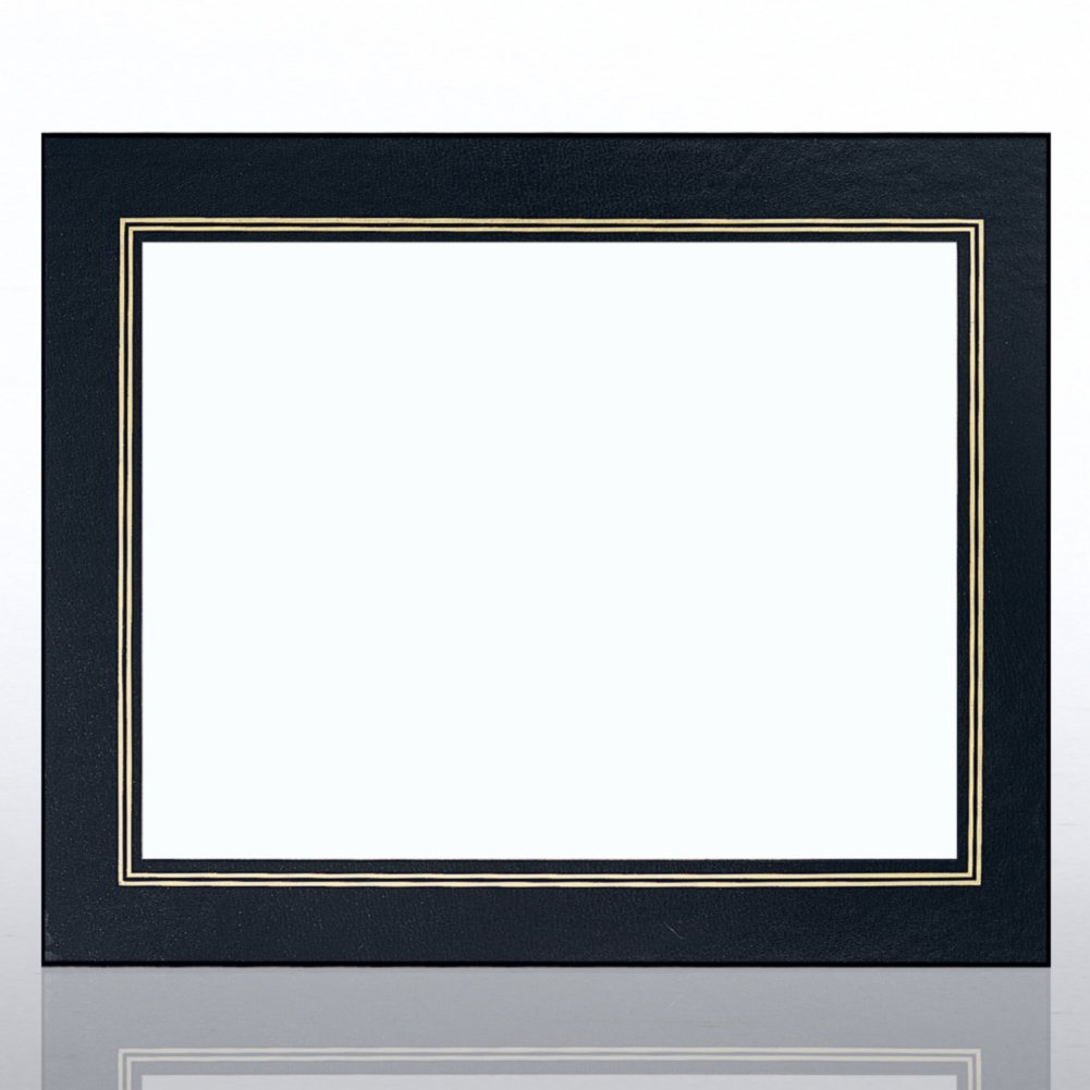 View larger image of Leatherette Frame - Black - Foil Border