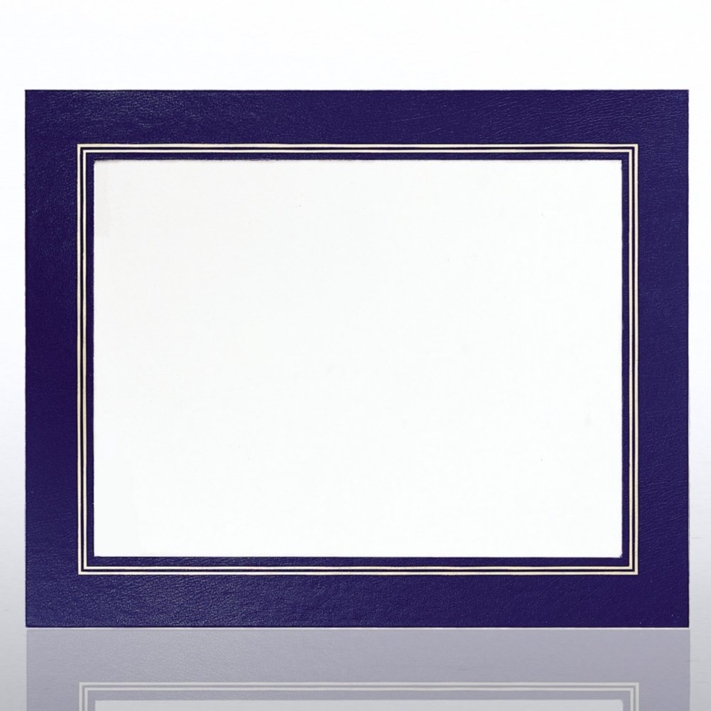 View larger image of Leatherette Frame - Blue - Foil Border