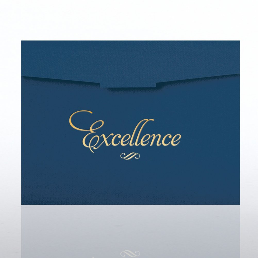 View larger image of Foil-Stamped Certificate Folder - Excellence Formal - Blue
