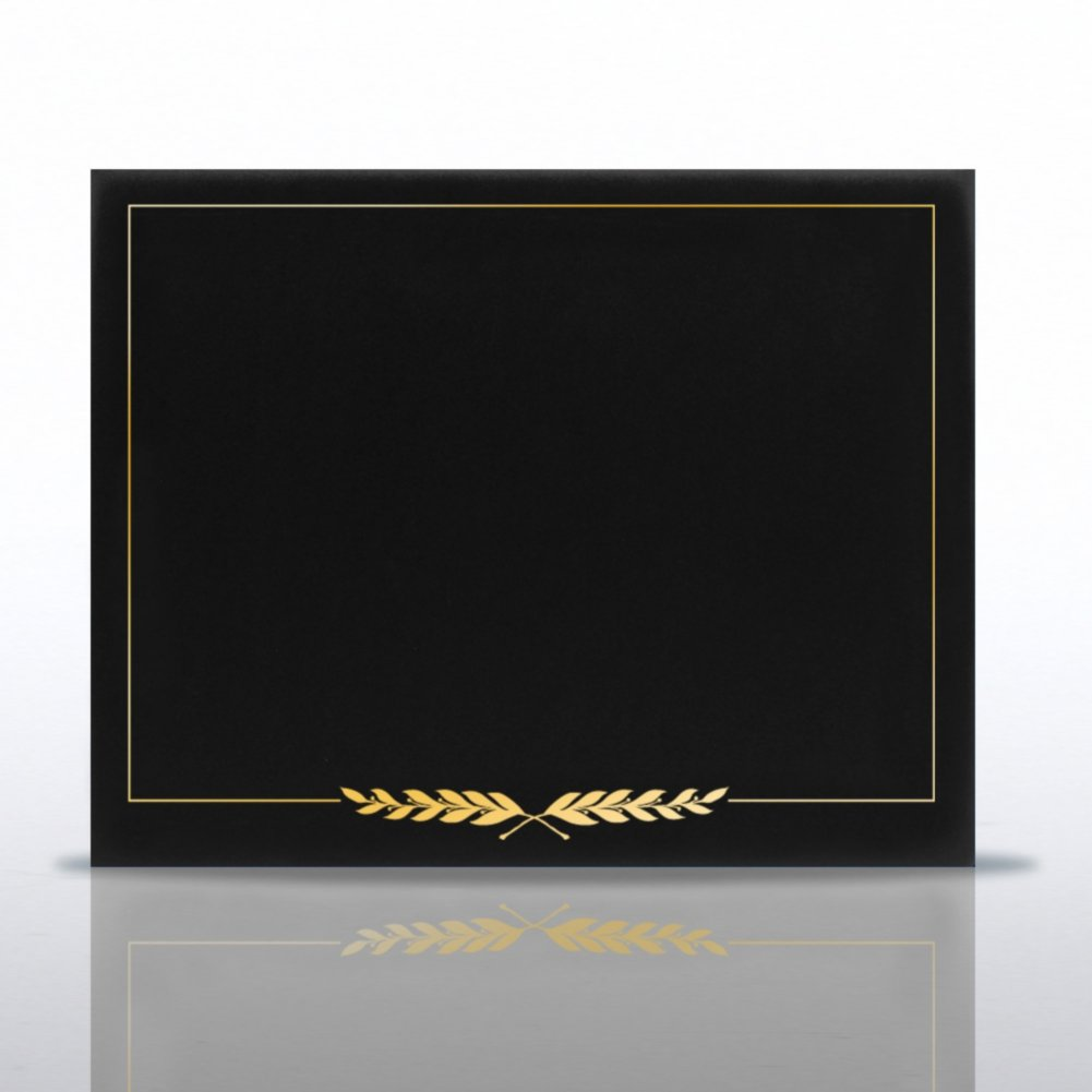 View larger image of Laurels Gold Foil Border Certificate Cover