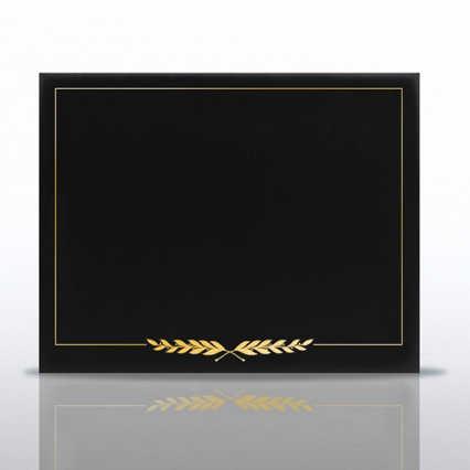 Laurels Gold Foil Border Certificate Cover