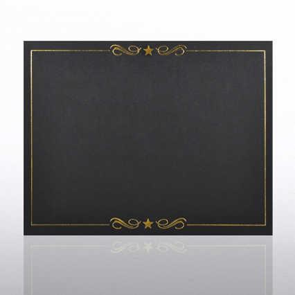 Foil Certificate Cover - Swirly Stars