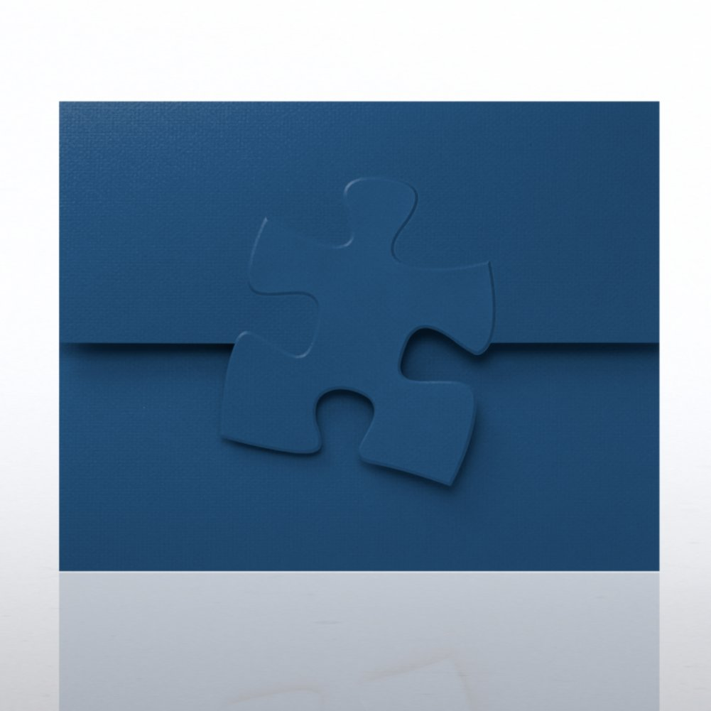 View larger image of Embossed Puzzle Piece Certificate Folder