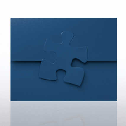 Embossed Puzzle Piece Certificate Folder
