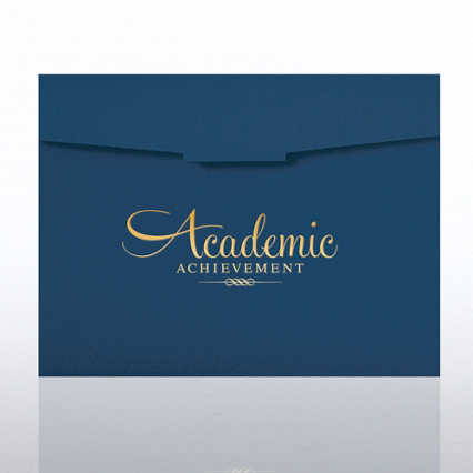 Academic Achievement Foil Certificate Folder