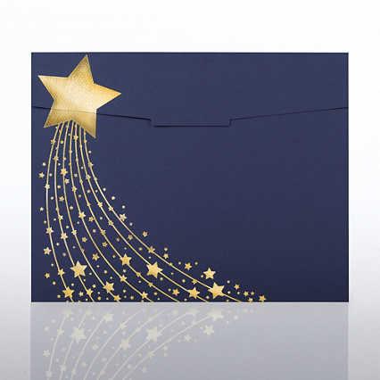 Foil-Stamped Certificate Folder - Shooting Star