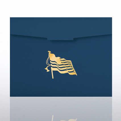 Flag Foil Certificate Folder