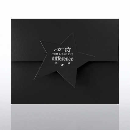 You Make the Difference Star Flap Foil Certificate Folder