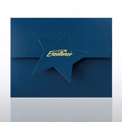 Excellence Star Flap Foil Certificate Folder