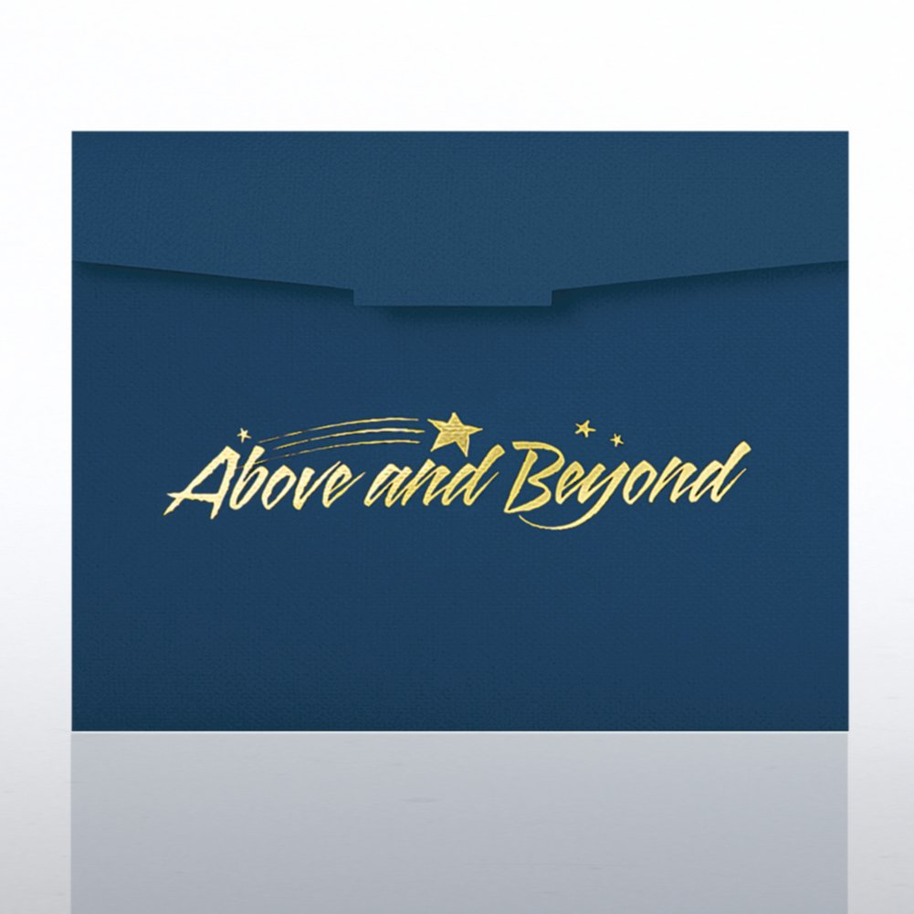 View larger image of Above and Beyond Foil Certificate Folder