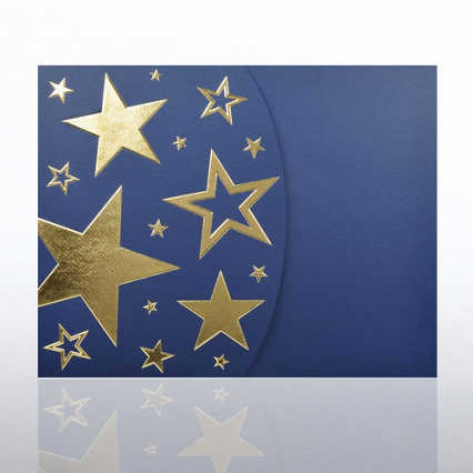 Foil-Stamped Embossed Certificate Folder - Bright Stars