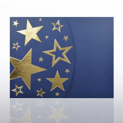 Foil-Stamped Embossed Certificate Folder - Bright Stars