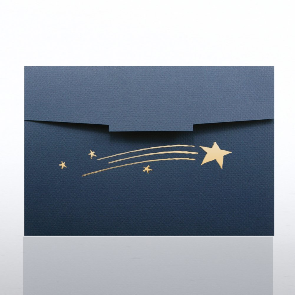 View larger image of Certificate Folder - Half Size Gold Foil - Shooting Stars