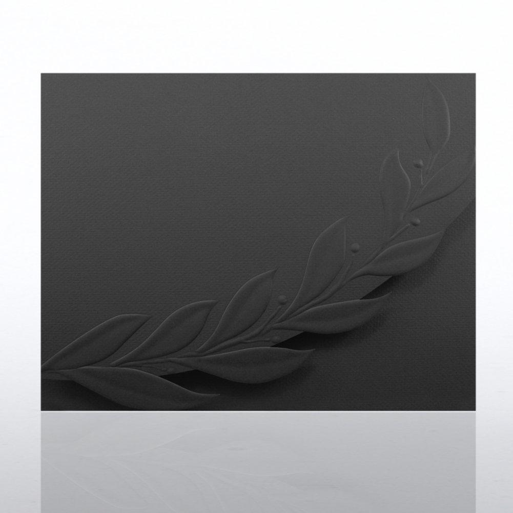 View larger image of Certificate Folder - Embossed Laurel Flap - Black