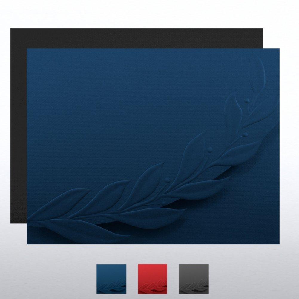 Certificate Folder - Embossed Laurel Flap