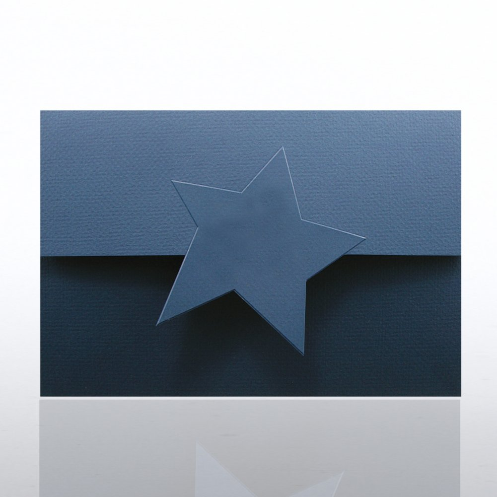 View larger image of Certificate Folder - Half Size w/ Star Flap - Blue