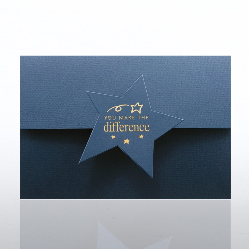 View larger image of Certificate Folder - Half Size w/ Star Flap - YMTD - Blue