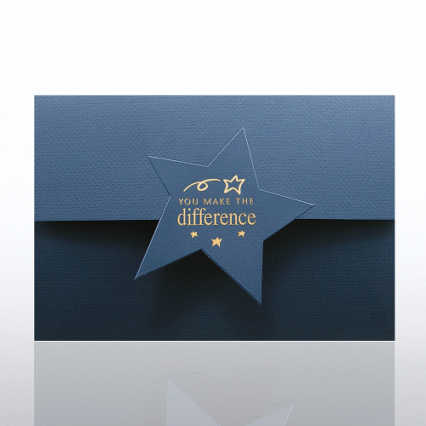 Certificate Folder - Half Size w/ Star Flap - YMTD - Blue