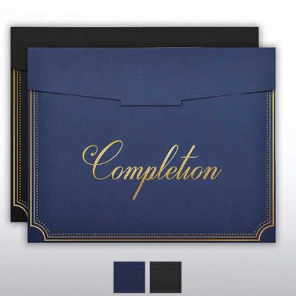 Foil Stamped Certificate Folder - Dots