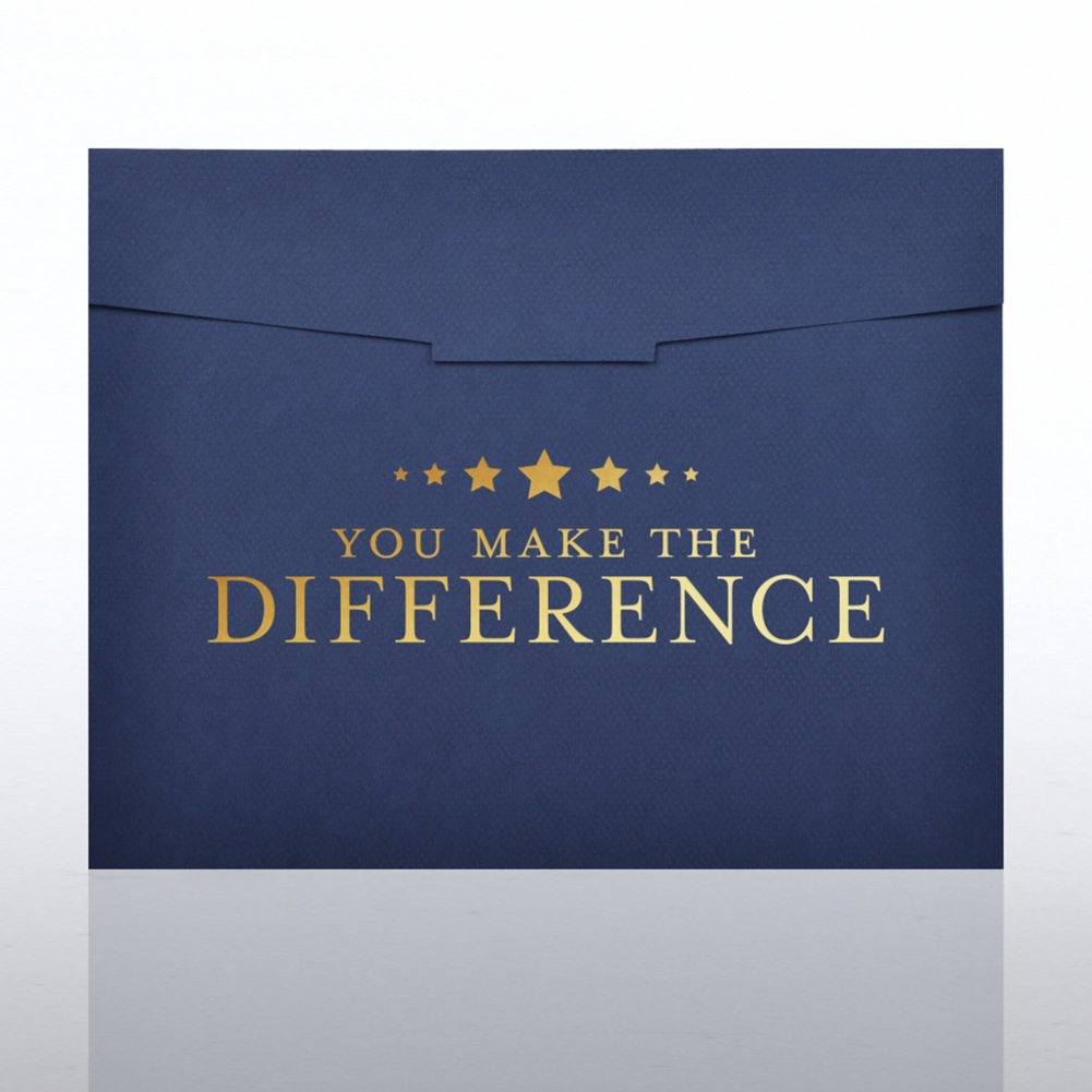View larger image of Foil Stamped Certificate Folder-You Make the Difference Star