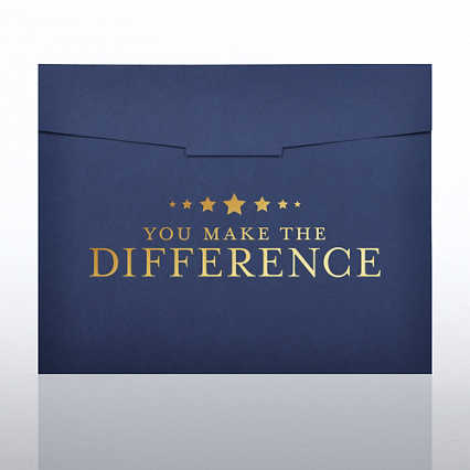 Foil Stamped Certificate Folder-You Make the Difference Star