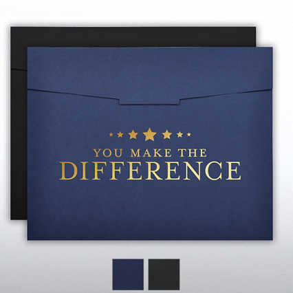 Foil Stamped Certificate Folder - You Make the Difference