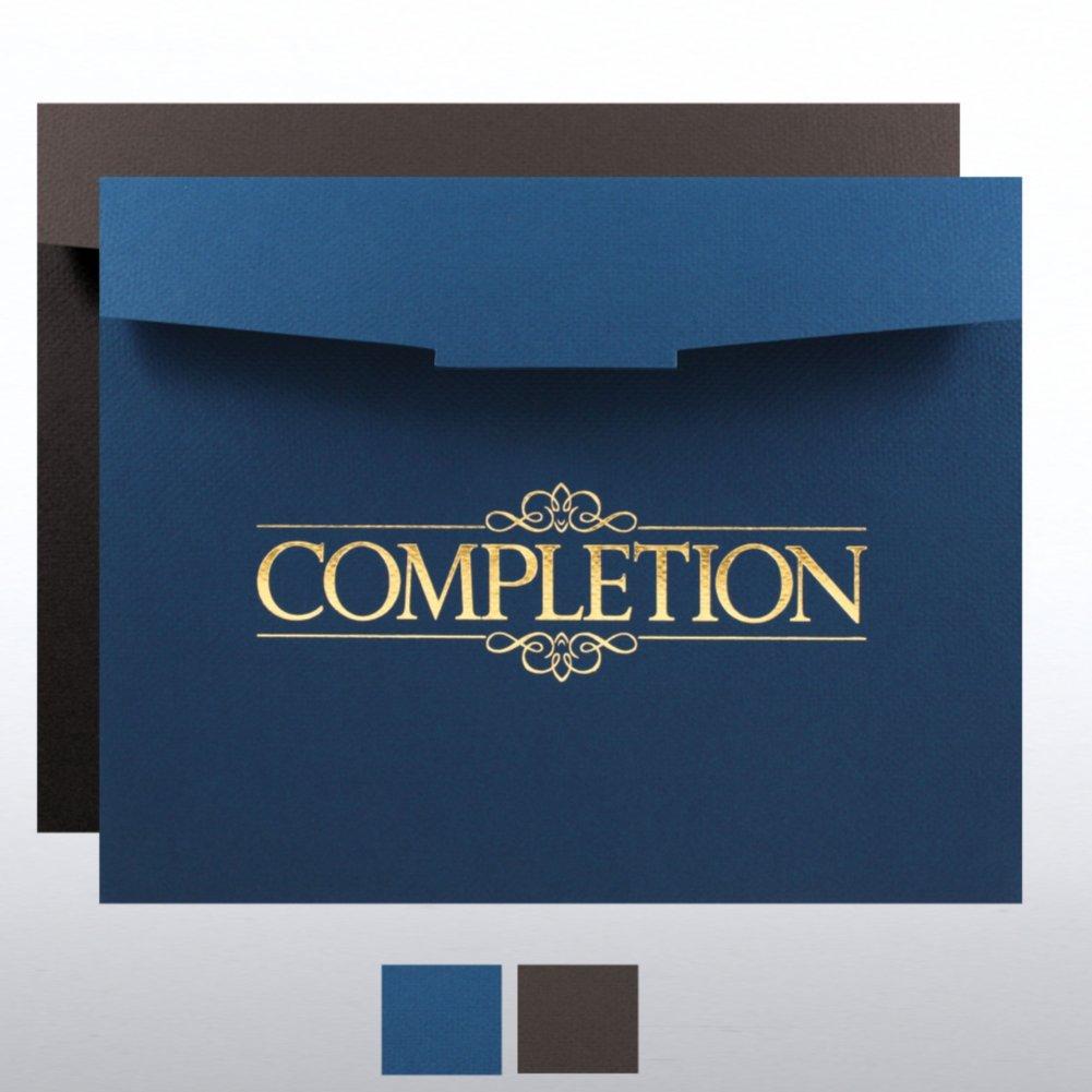 View larger image of Completion Foil-Stamped Certificate Folder