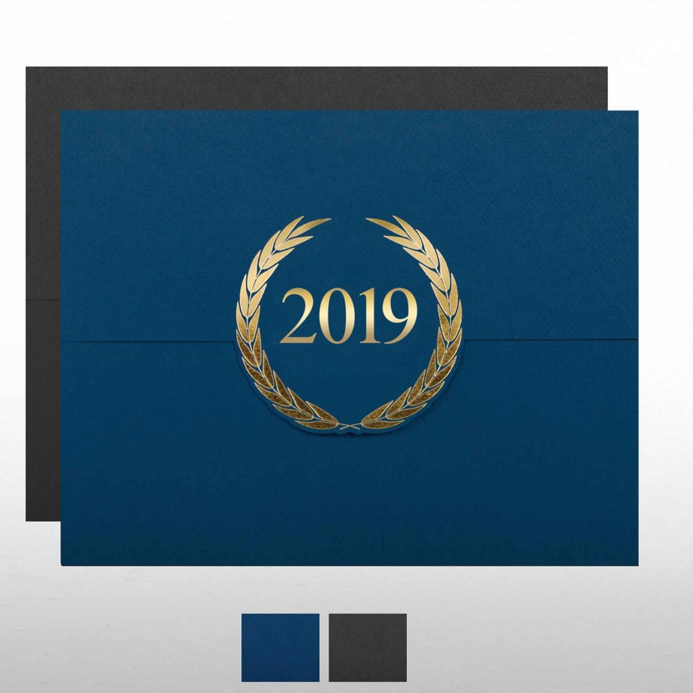 View larger image of Foil-Stamped Certificate Folder - Laurels - 2019