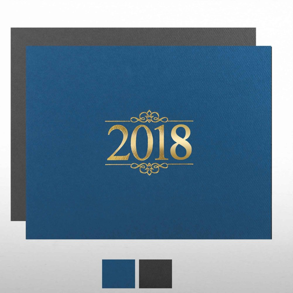 View larger image of Foil Certificate Cover - 2018 Ornaments