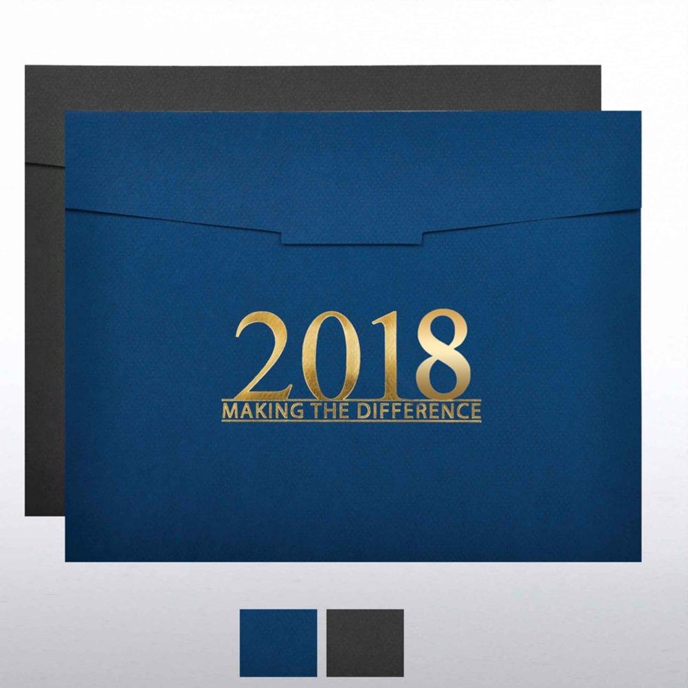 Foil-Stamped Certificate Folder - MAD 2018