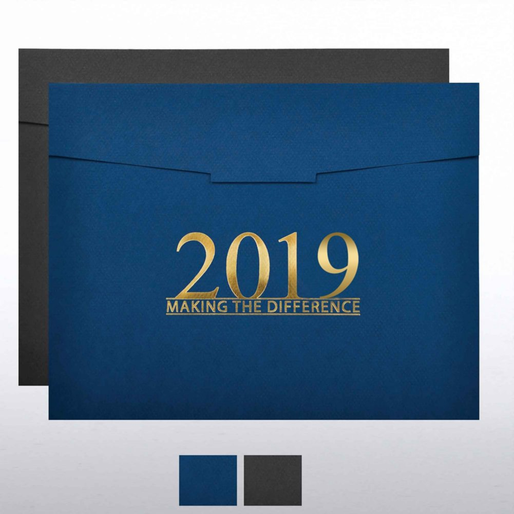 View larger image of Foil-Stamped Certificate Folder - MAD - 2019