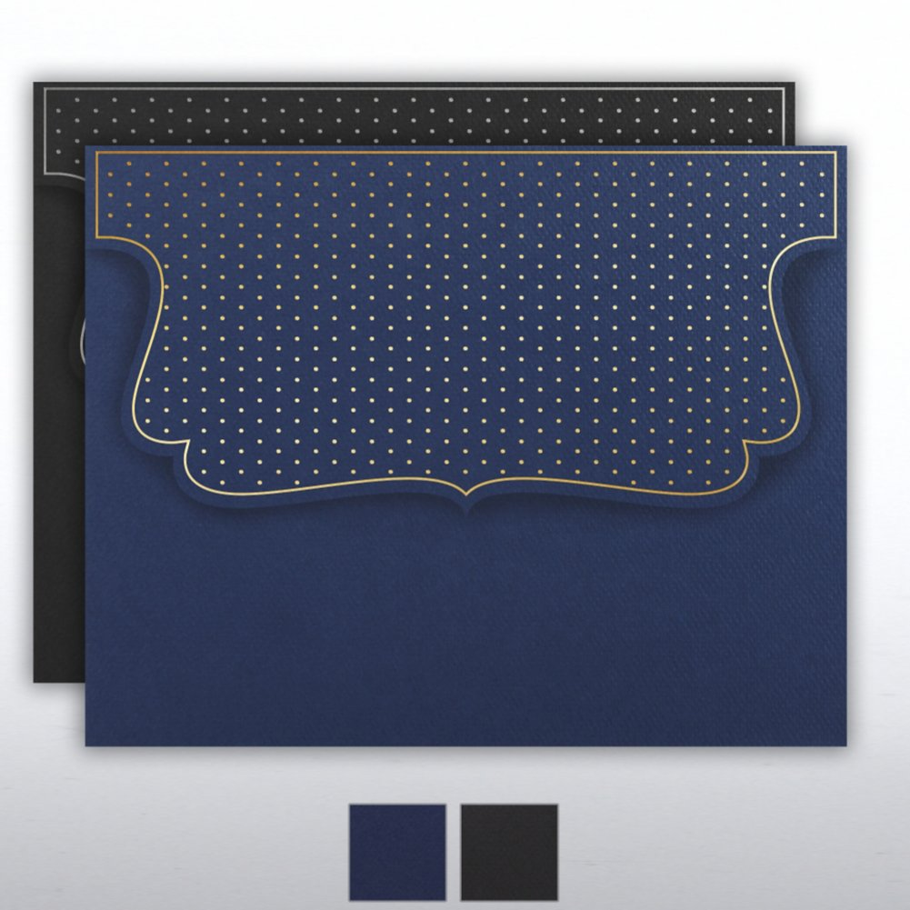 View larger image of Foil Stamped Embossed Folder - Dots Collection