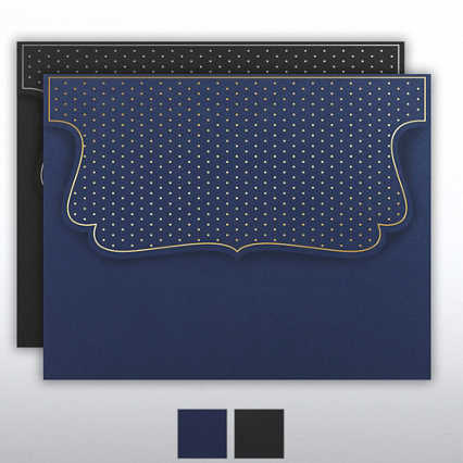 Foil Stamped Embossed Folder - Dots Collection