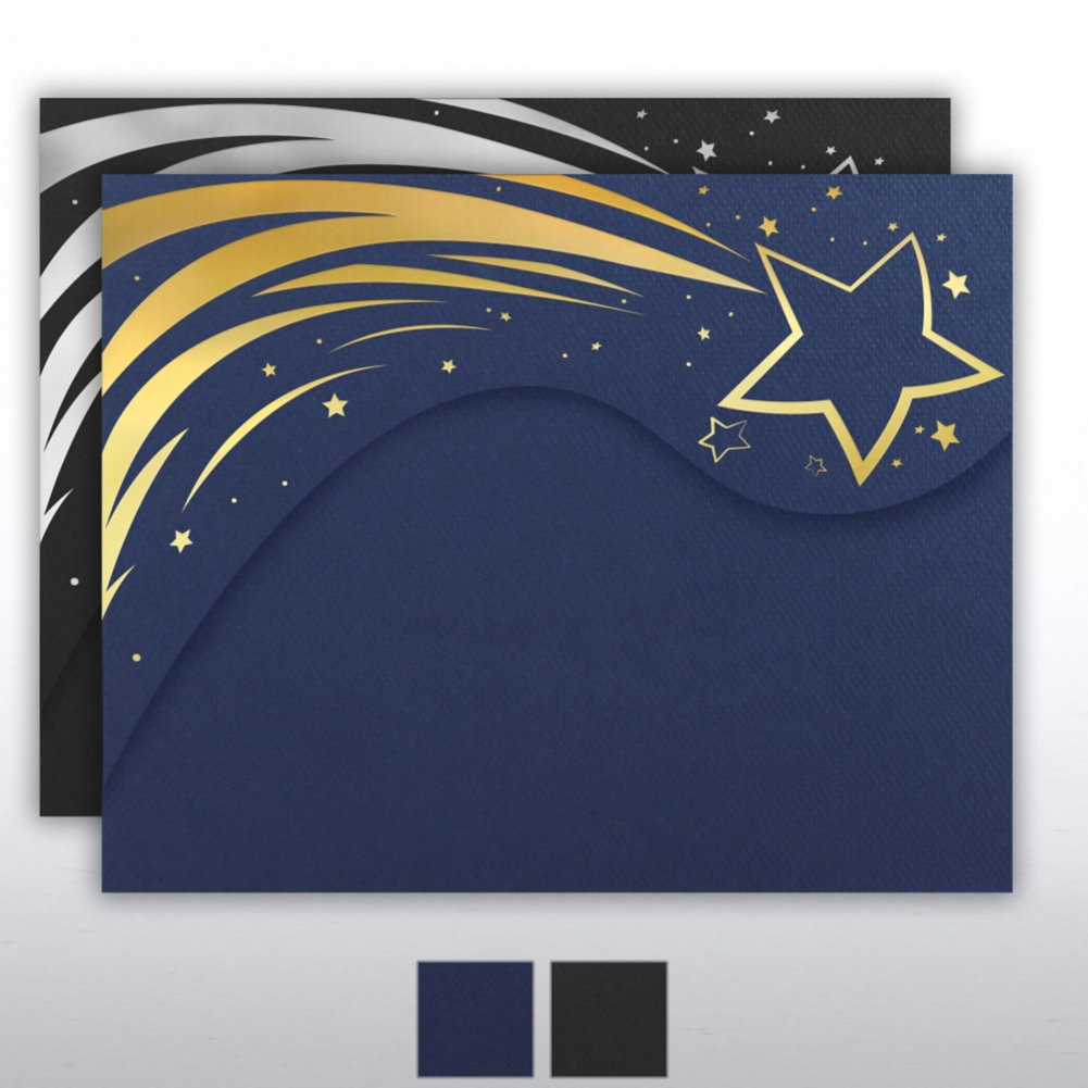 Foil Stamped Embossed Folder - Radiant Stars
