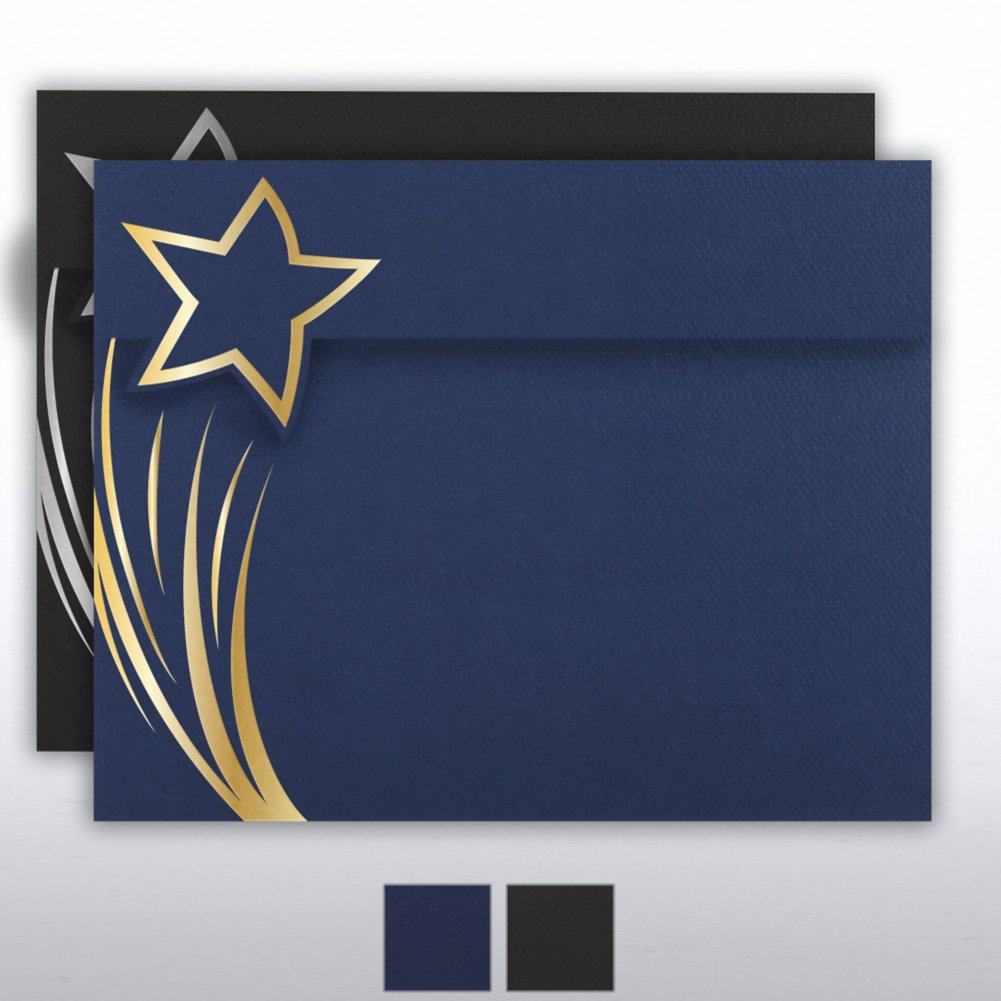 View larger image of Foil Stamped Embossed Certificate Folder - Brilliant Star