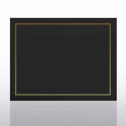 Gold Foil Border Certificate Cover