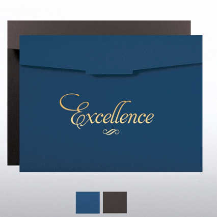 Foil-Stamped Certificate Folder - Excellence Formal