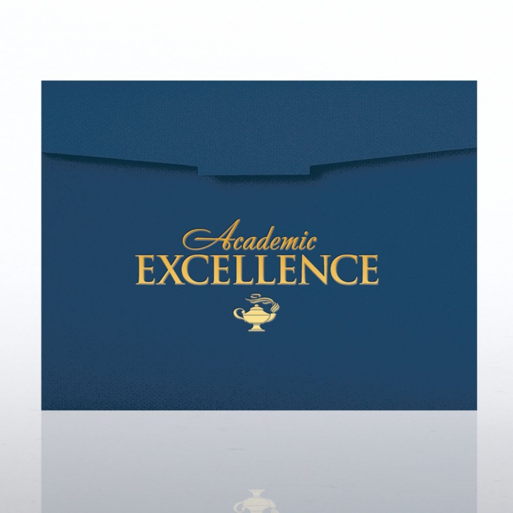View larger image of Foil-Stamped Certificate Folder - Academic Excellence Lamp