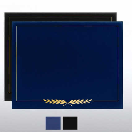 Laurels Gold Foil Border Certificate Cover