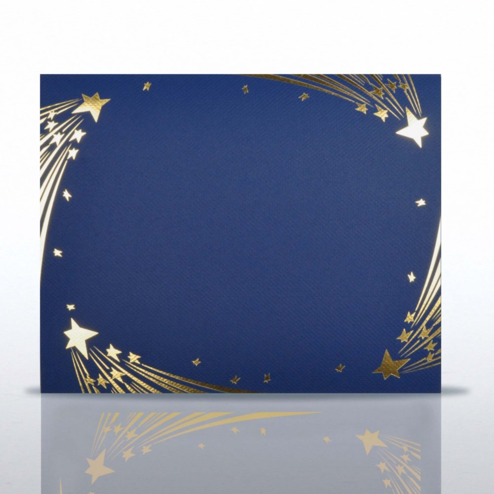 View larger image of Stars Gold Foil Border Certificate Cover