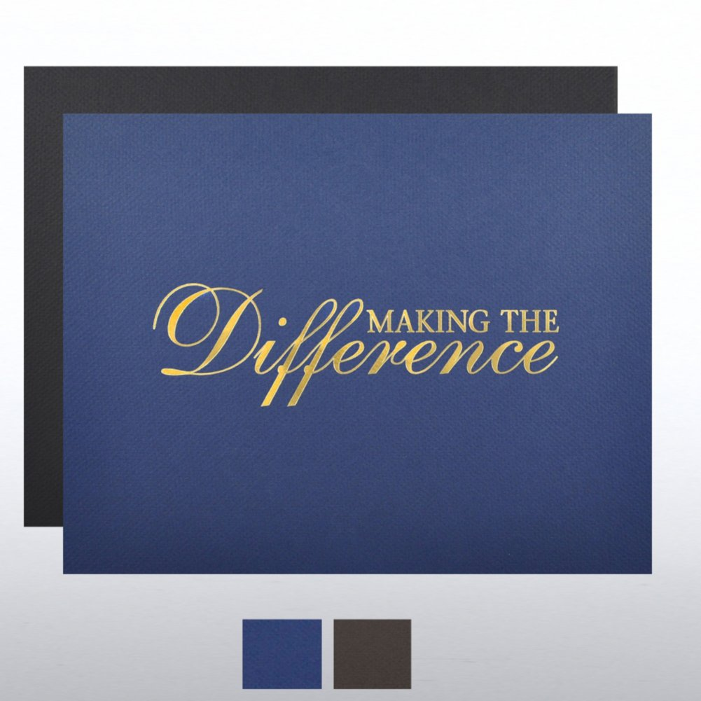 View larger image of Foil Certificate Cover - Making the Difference