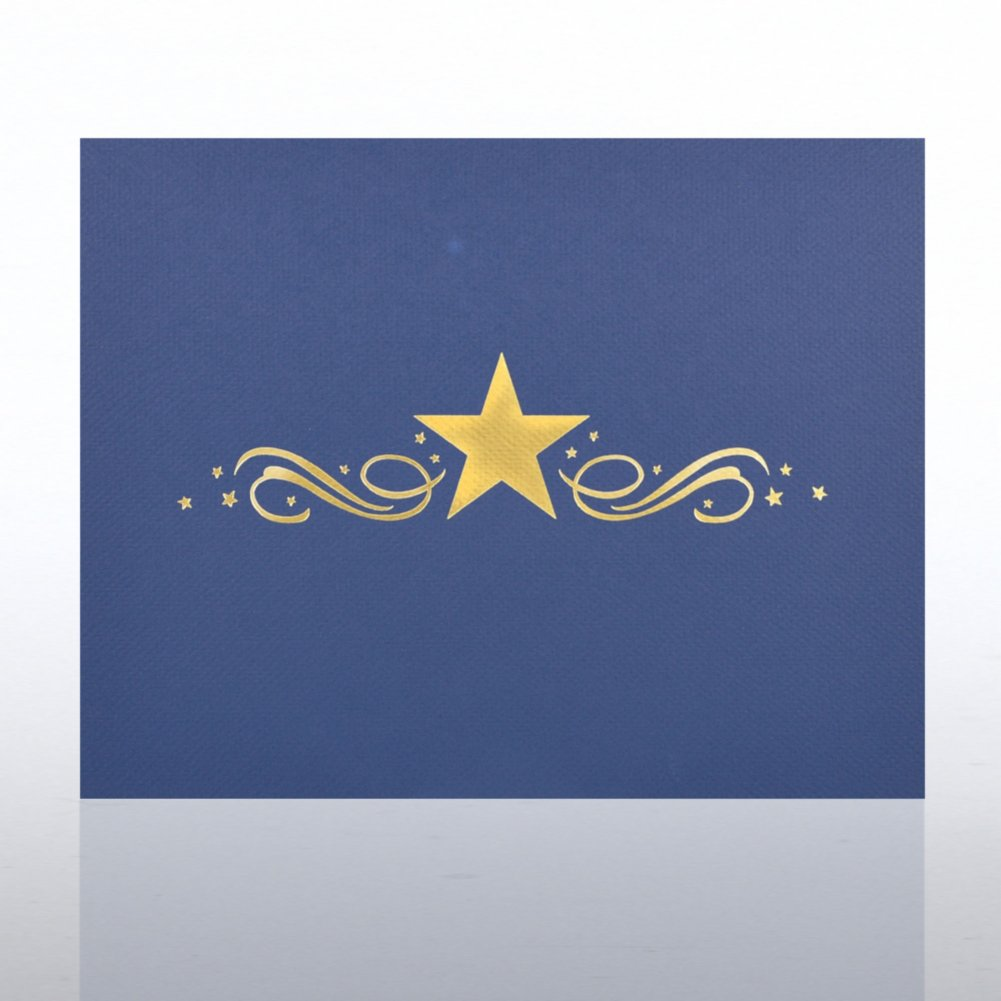 View larger image of Foil Certificate Cover - Center Stars